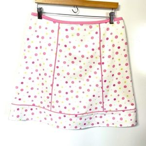 Andre Oliver adorable girly polka dot A line skirt